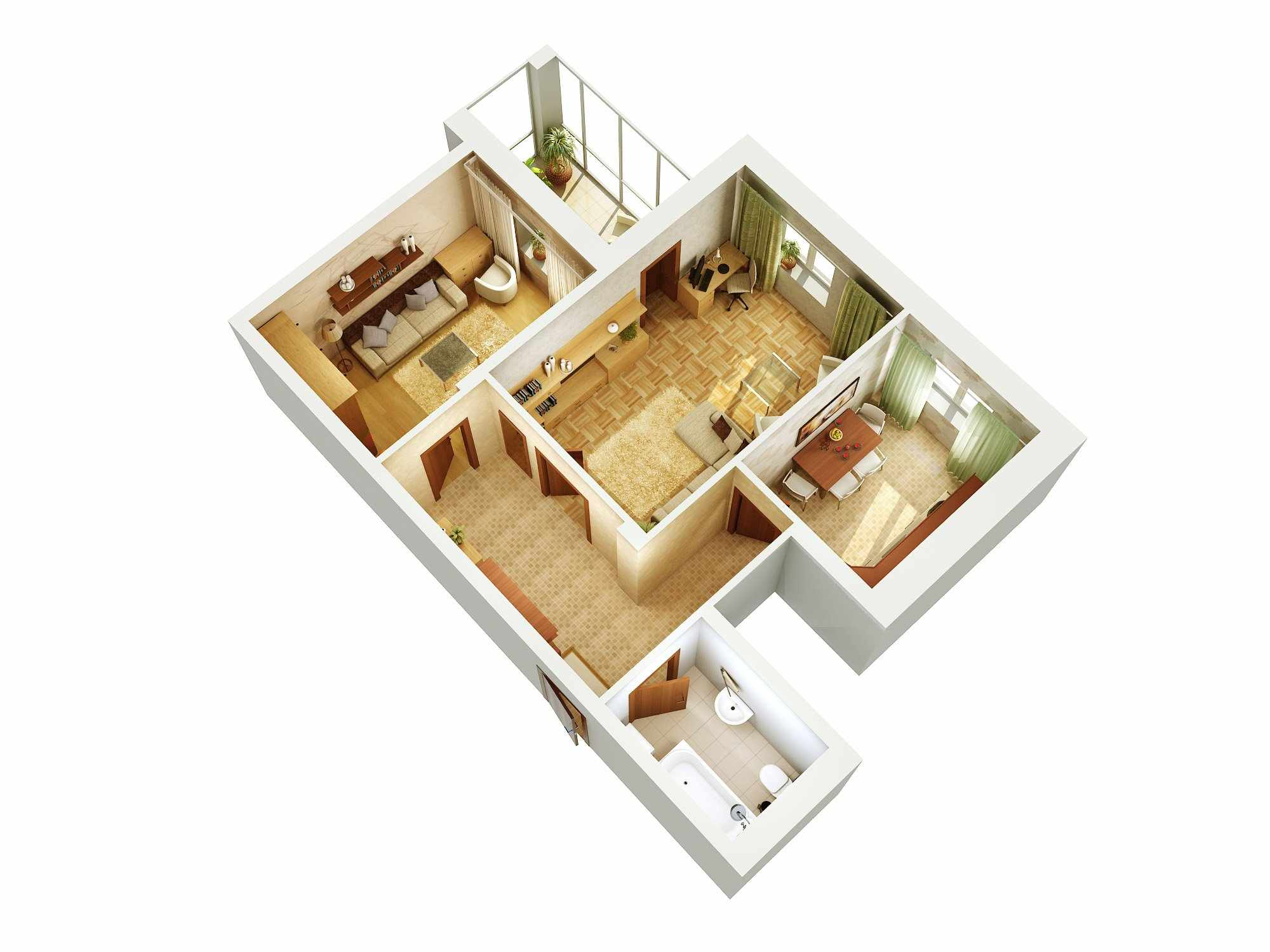Планировка квартиры с 3 комнатами