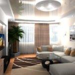Декоративная пальма в гостиной