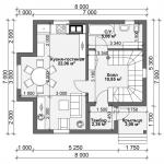Планировка квадратного дома
