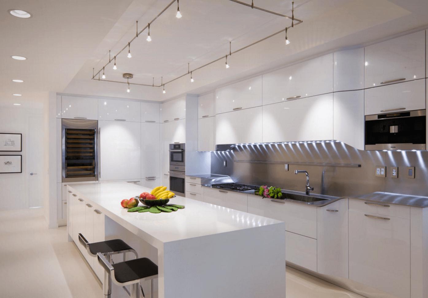 Интересные идеи освещения кухни