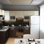 Интерьер Г-образной кухни