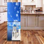 Пленка с фотопечатью на холодильнике
