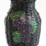 Черная ваза ручной работы