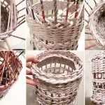 Этапы плетения вазы