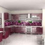 Вишневый цвет в дизайне кухни