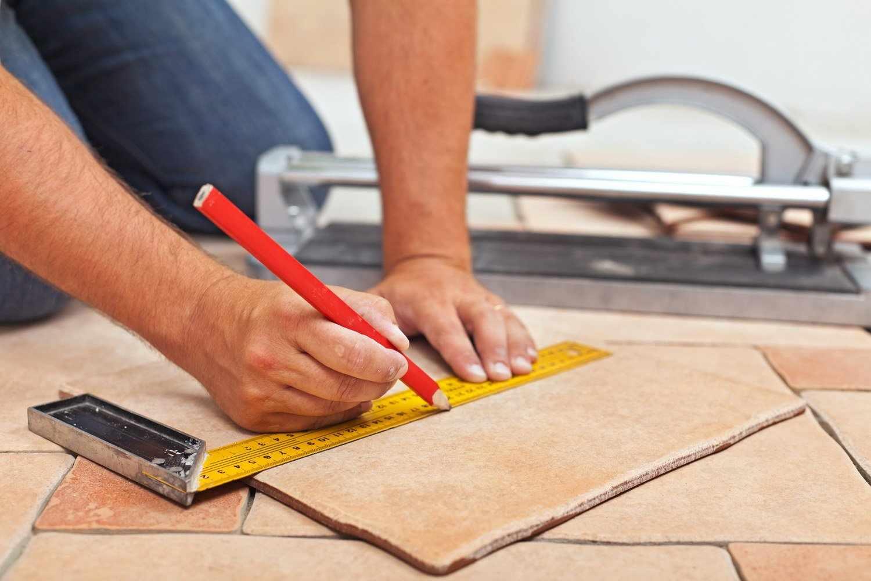 Подготовительная работа к укладке плитки