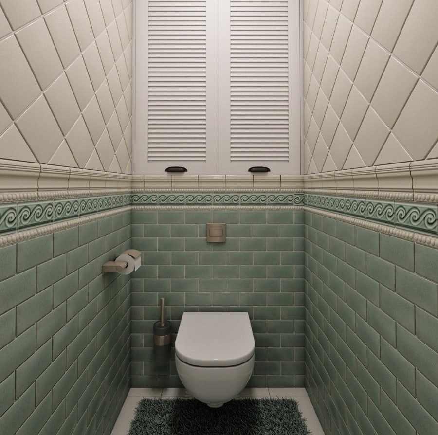 Плитка кабанчик в туалете