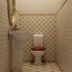 Белая сантехника в туалете