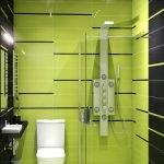 Зелено-черный дизайн туалета
