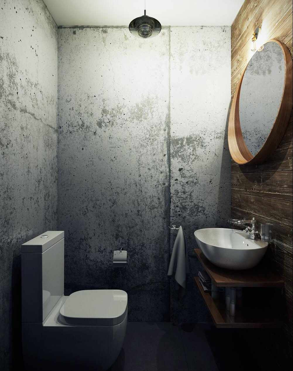 Стиль лофт в дизайне туалета