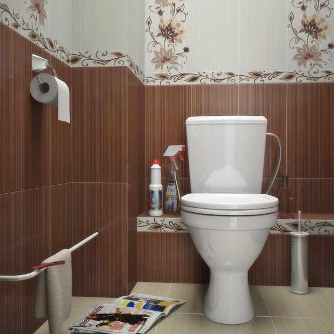Цветочный орнамент в дизайне туалета