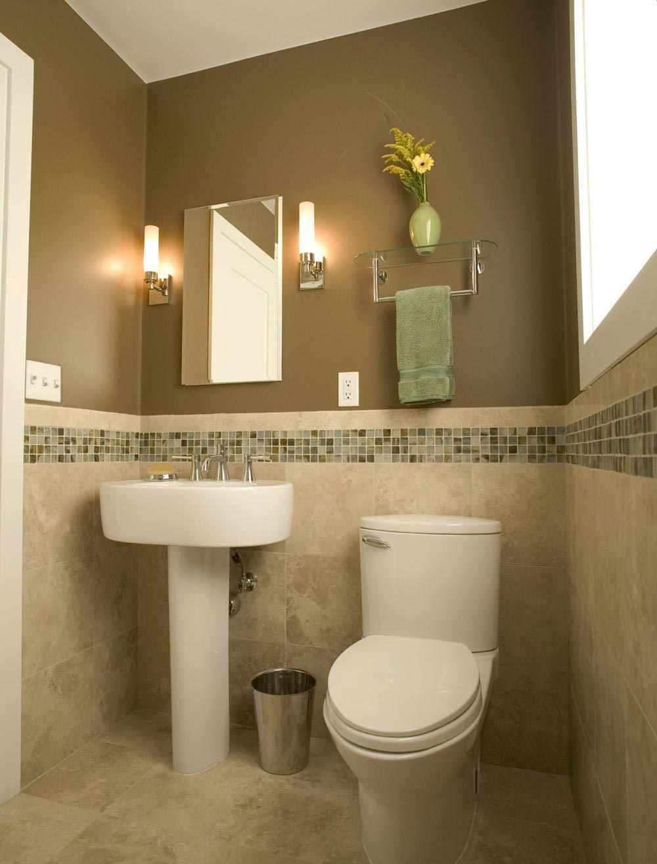 Оливковый в оформлении туалета