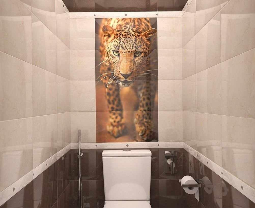 Керамогранит в отделке туалета