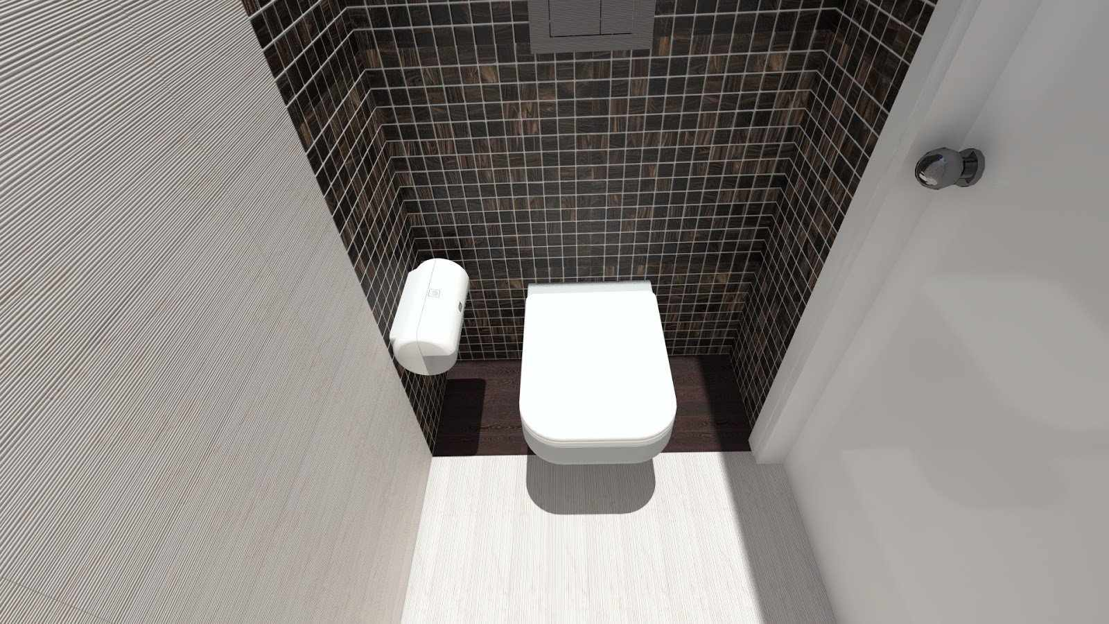 Мозаичная плитка в дизайне туалета
