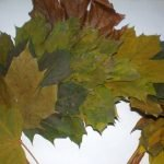 Листья крепим кучно