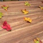 На нитки нанизываем листья
