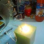 Нагреваем над свечой