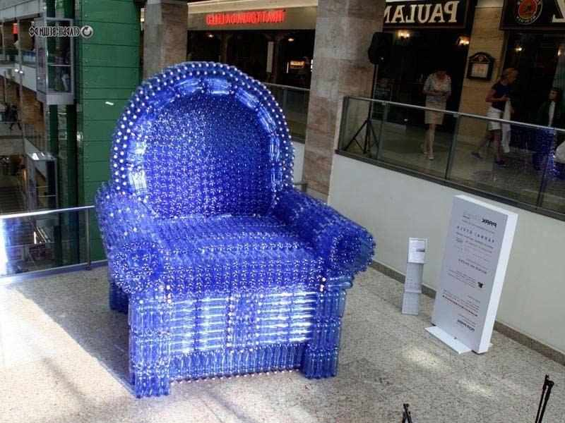 Мебель из бутылок