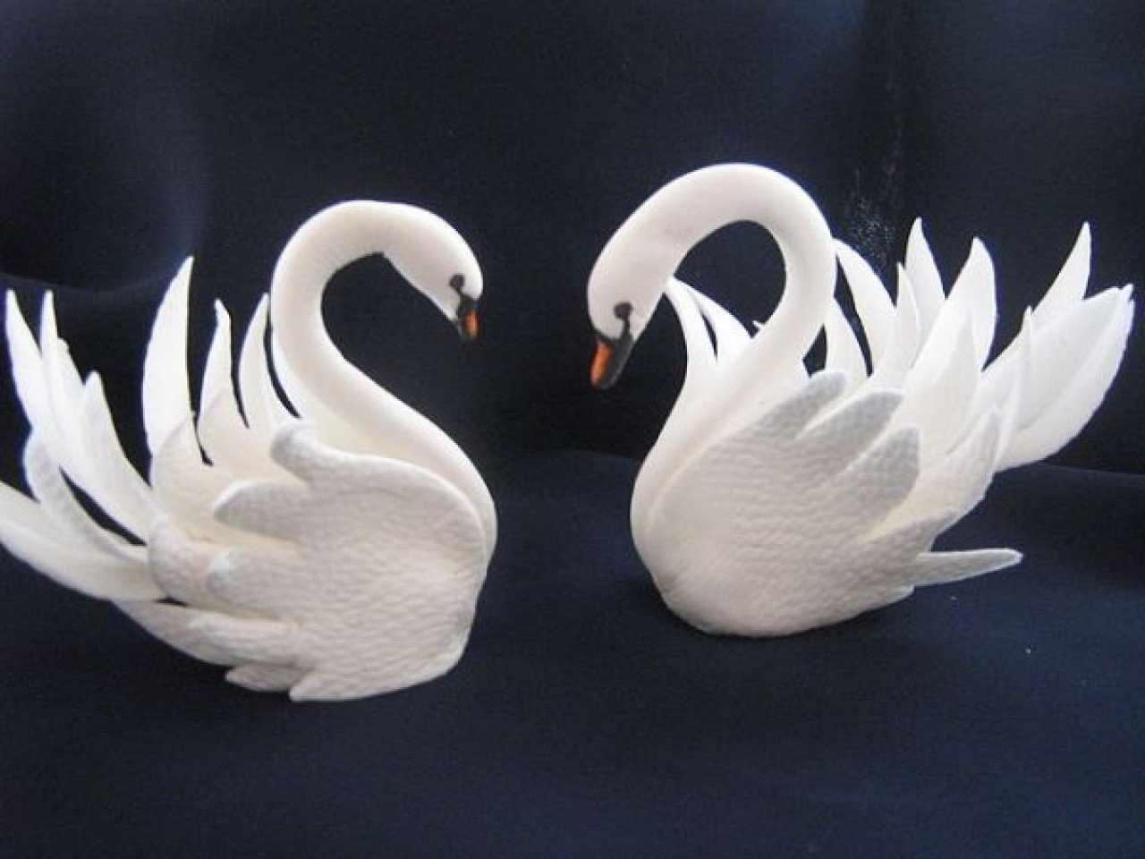 Лебедушки из глины