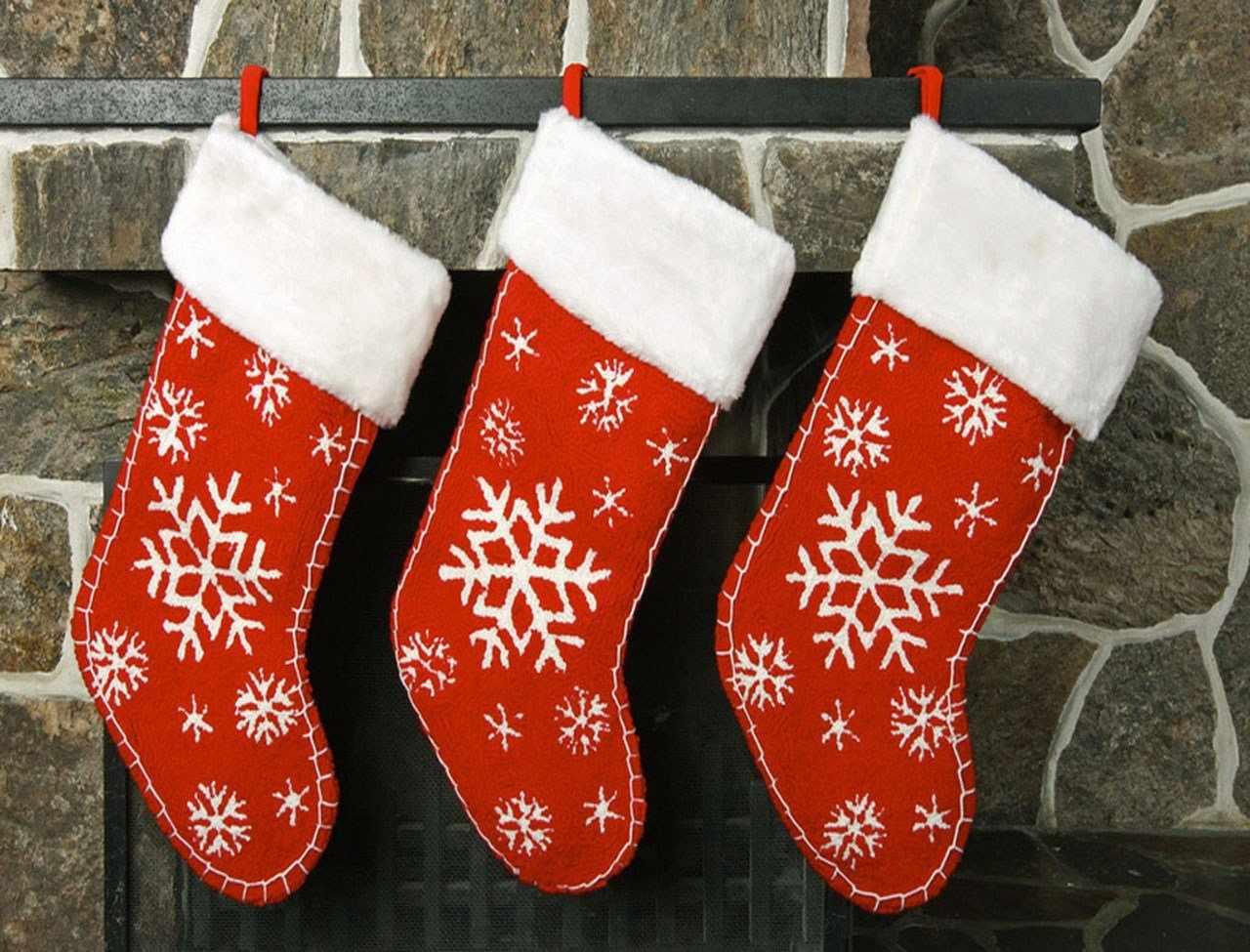 Рождественские сапожки для подарков
