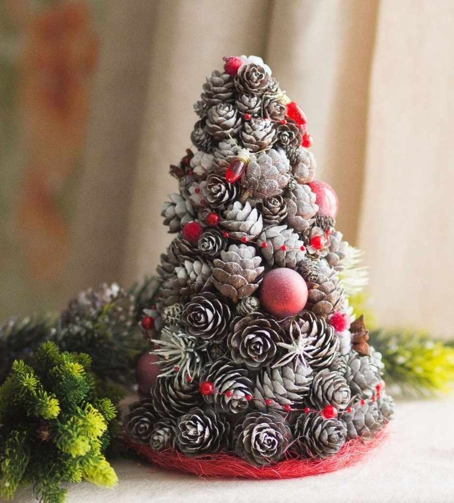 Рождественское дерево с шарами