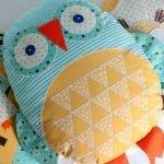 Готовая подушка сова