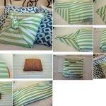 Узелок на подушке как декор