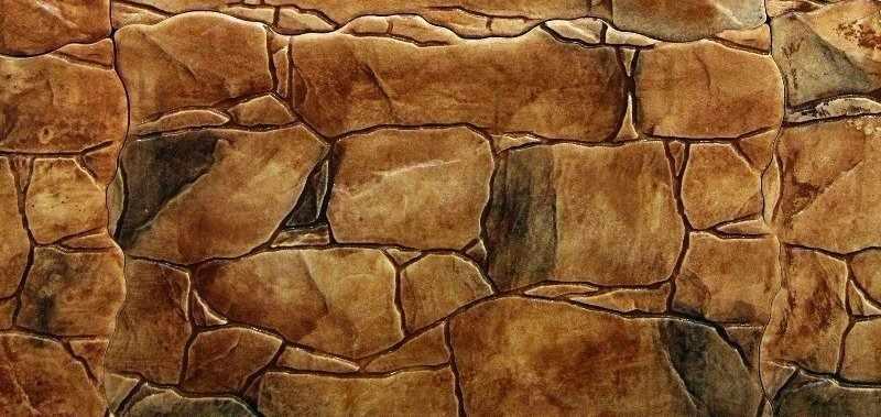 Окрашивание плитки под камень морилкой