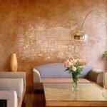 Роспись на стене над диваном