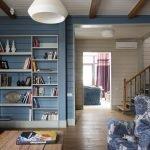 Голубая вагонка в интерьере дома