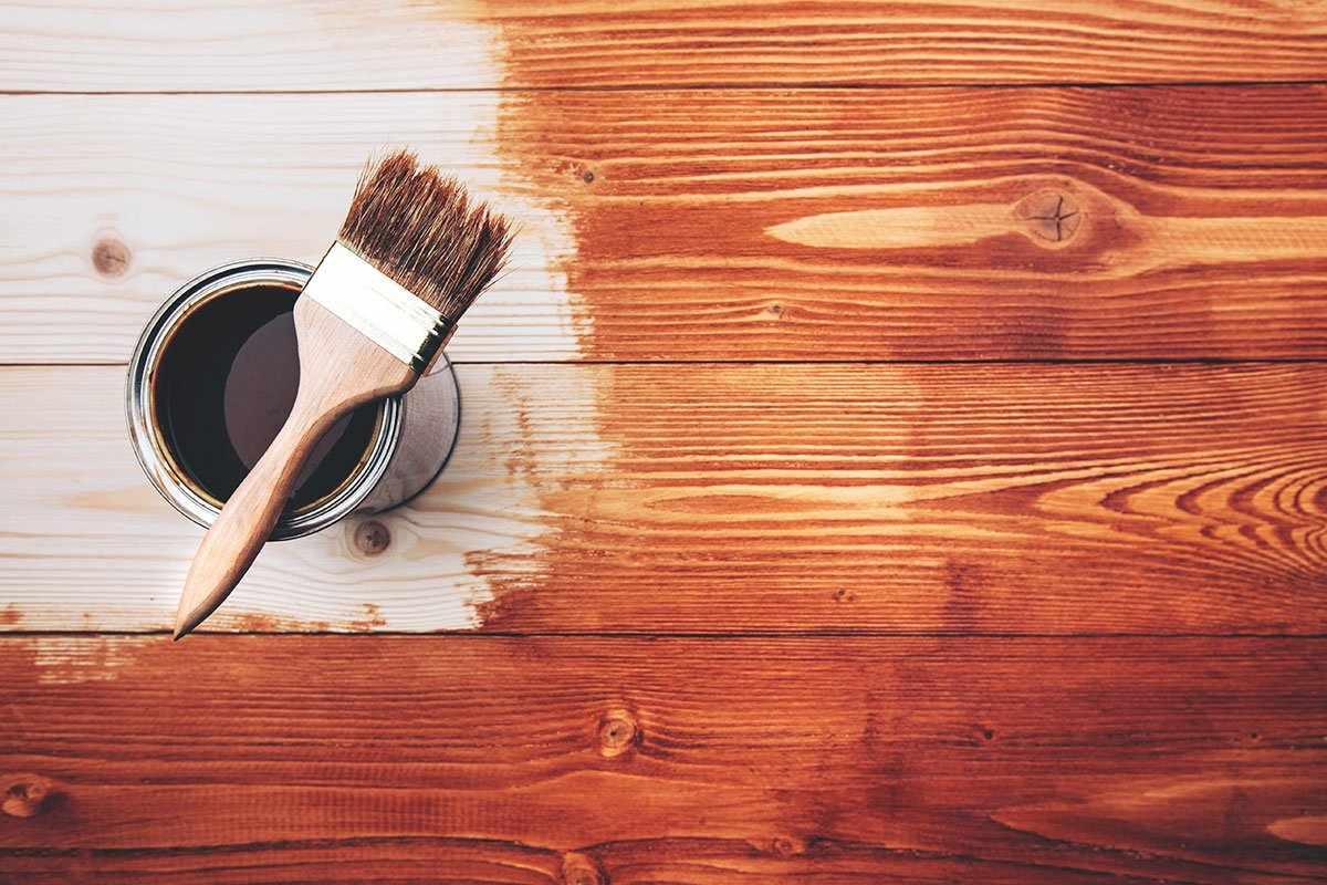Покраска коричневым цветом