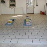 Гаражный пол в плитке