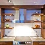 Расположение полок на кухне