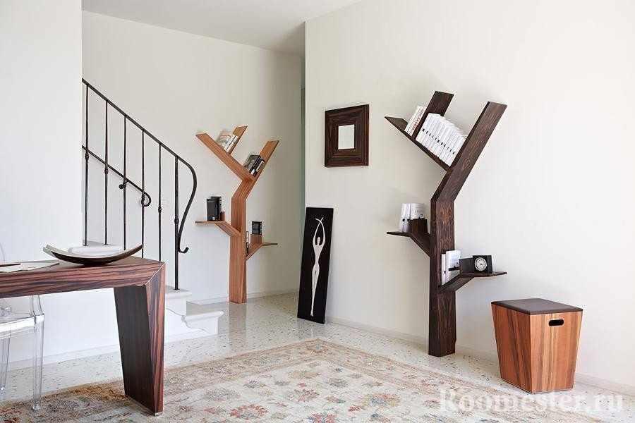 Полки в форме деревьев и веток