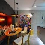 Бетонная стена на кухне