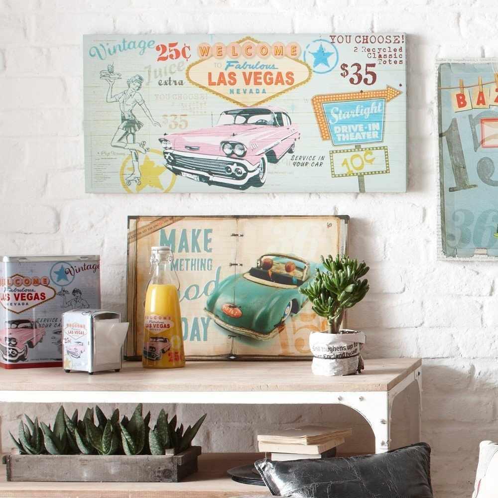 Винтажные плакаты в интерьере