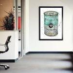 Постер с банкой в интерьере