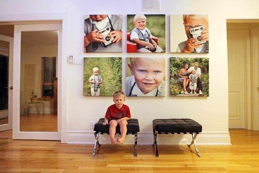 Композиция с фотографиями ребенка