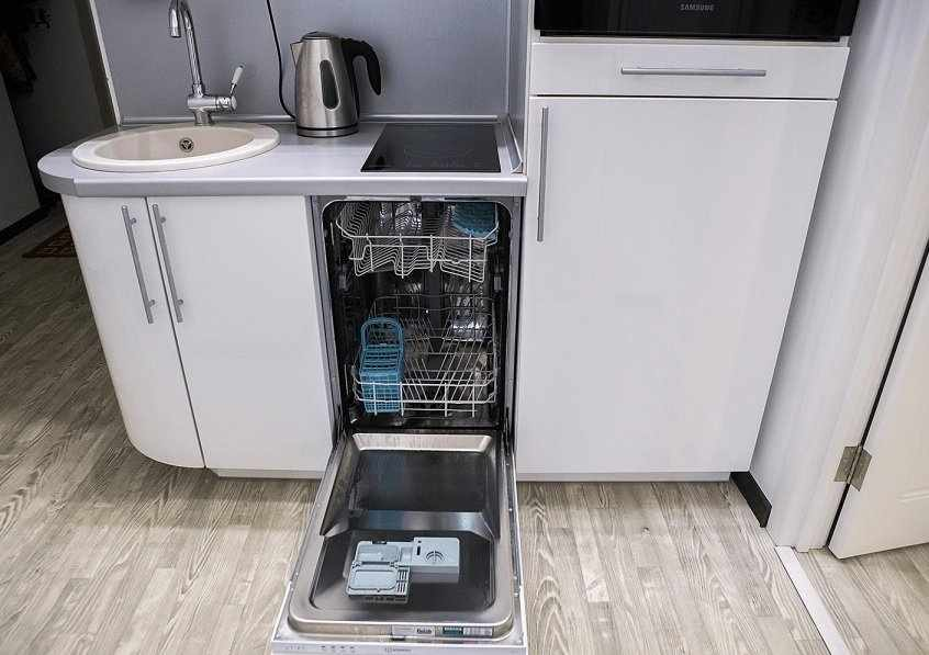 Узкая посудомоечная машина шириной 45 см