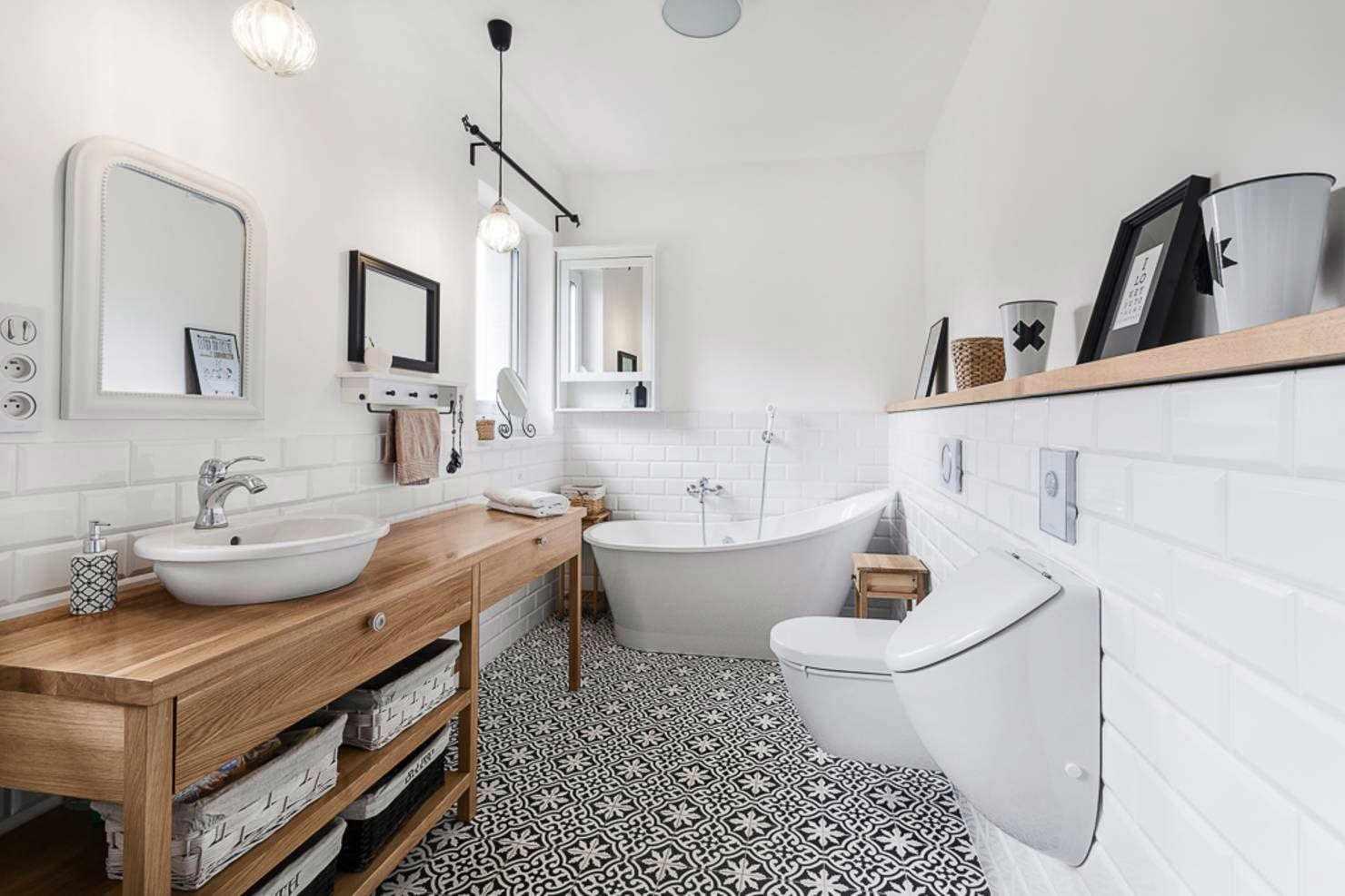 Лофт дизайн ванной комнаты