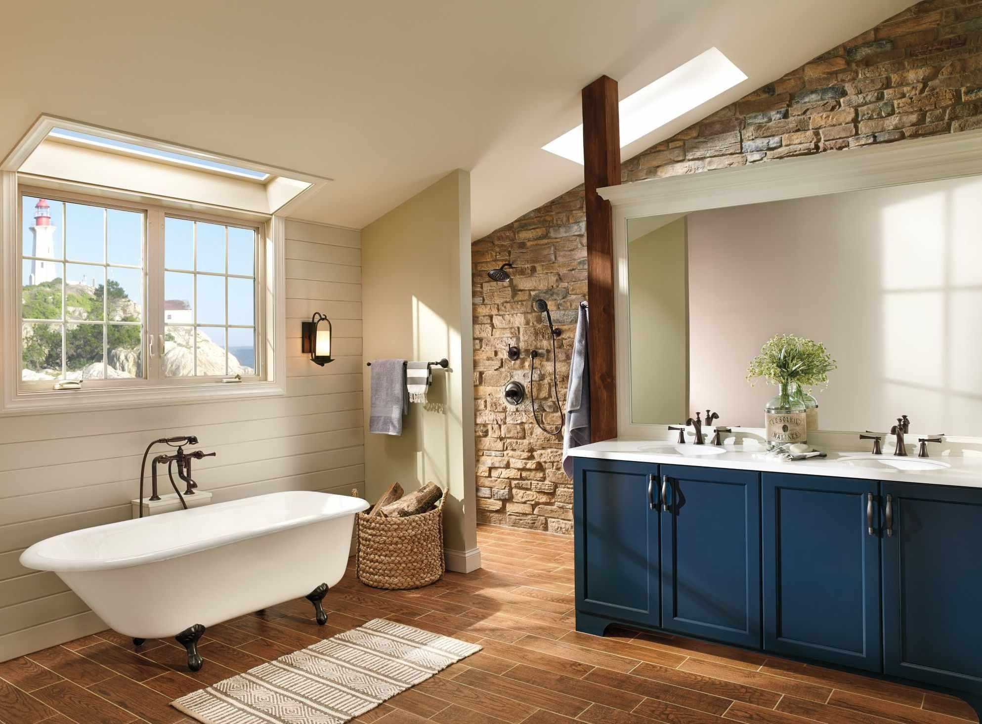 Интерьер большой ванной