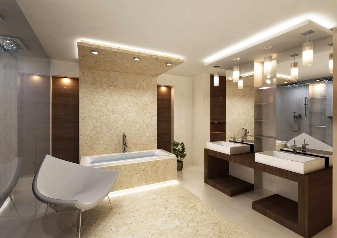 Гипсокартонный потолок в ванной