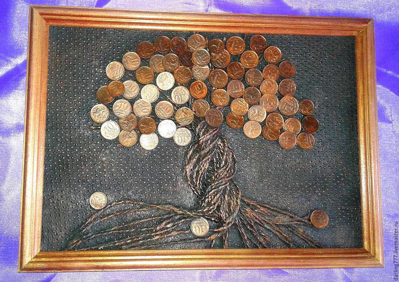 Монеты для украшения картины