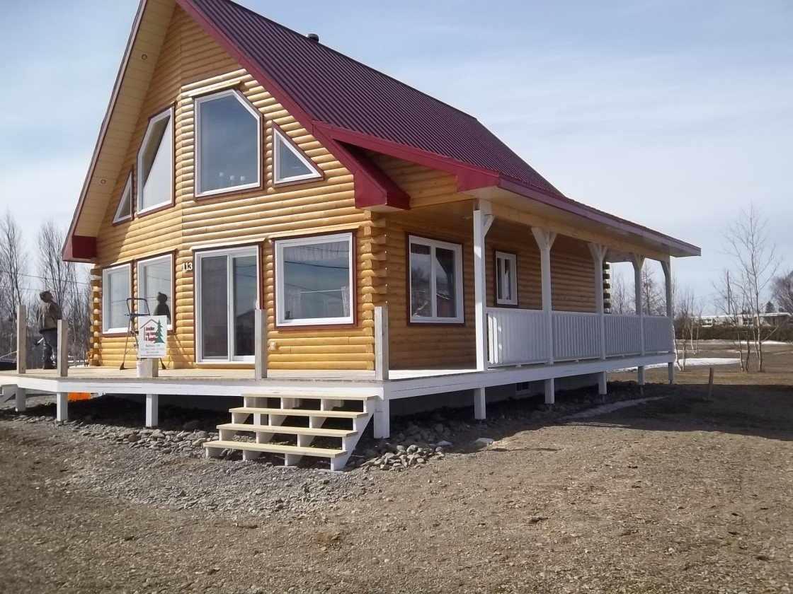 Дом с фундаментом на сваях
