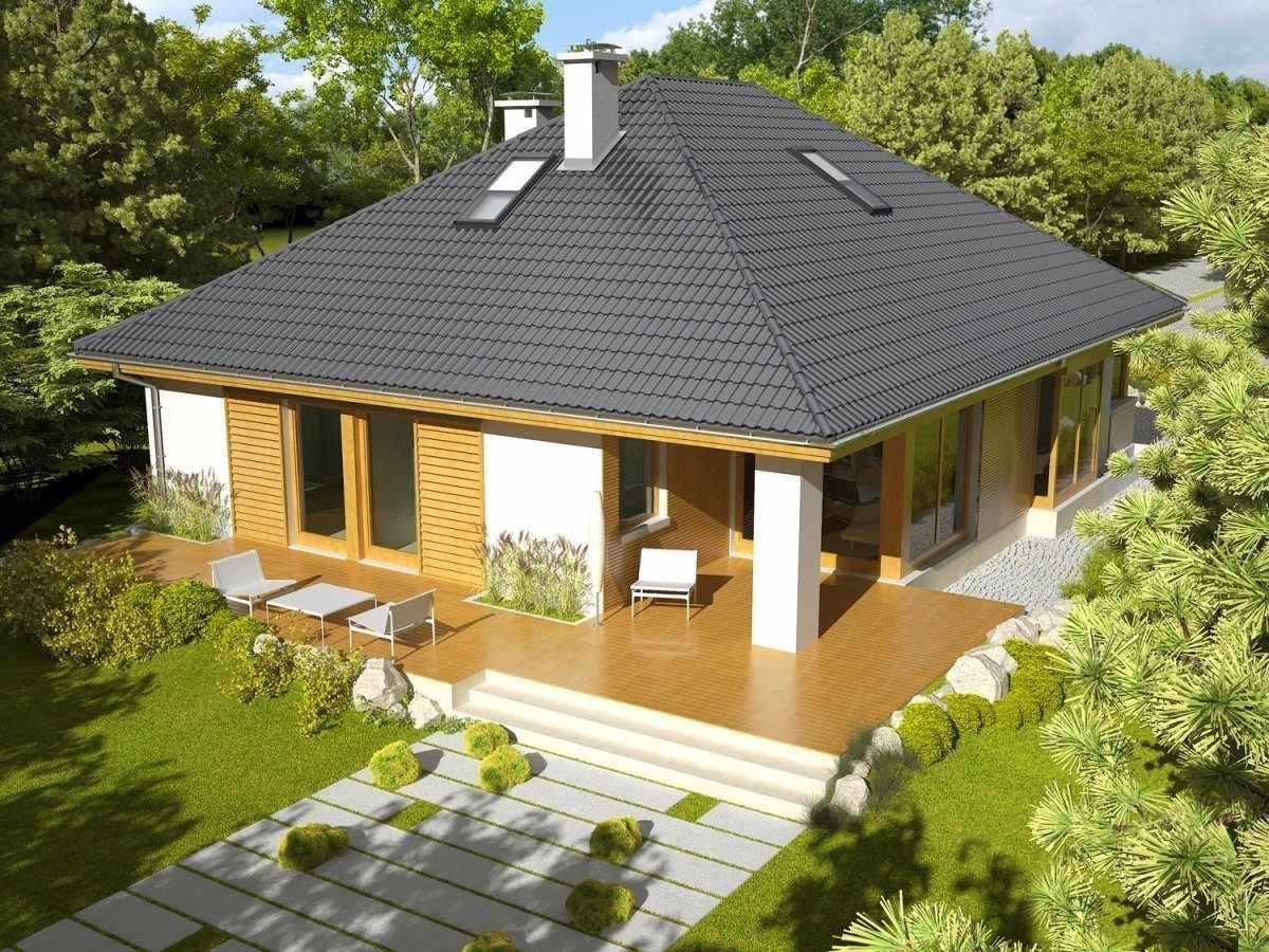 Четырехскатная форма крыши