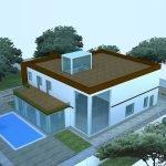 Проект с плоской крышей