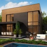 Дом с плоской крышей в стиле хай тэк