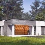 Коттедж с плоской крышей
