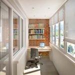 Балкон в качестве кабинета