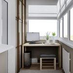 Организация кабинета на балконе